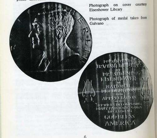 Irving Berlin Cong Gold Medal Galvano233