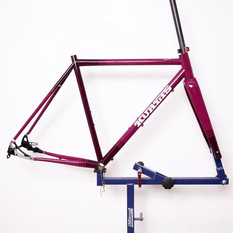 Kualis Cycles Steel Frame Repainted by Swamp Things.