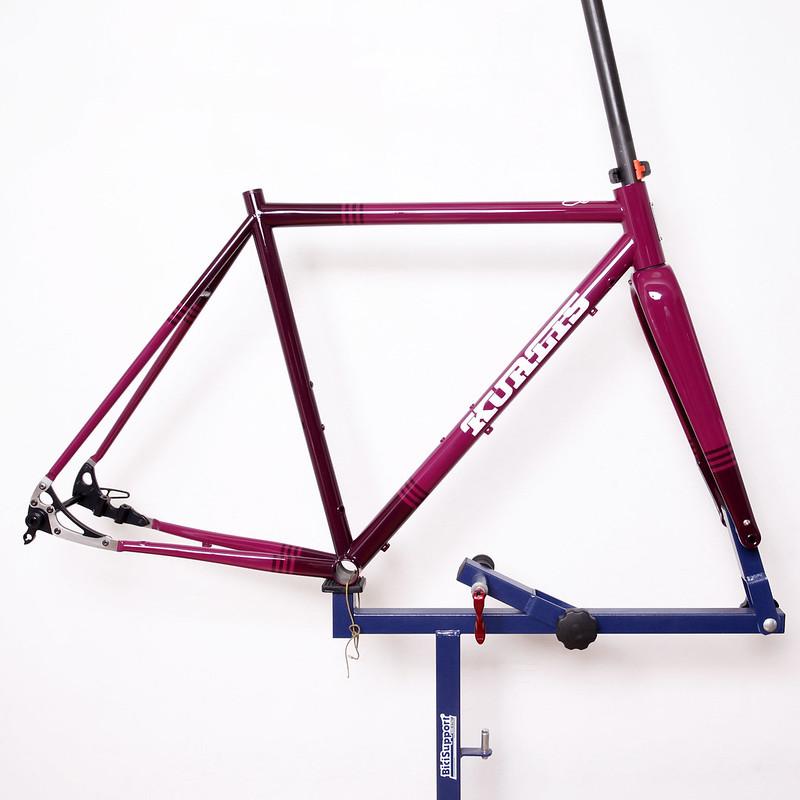 Kualis Cycles Steel Frame Repainted by Swamp Things.