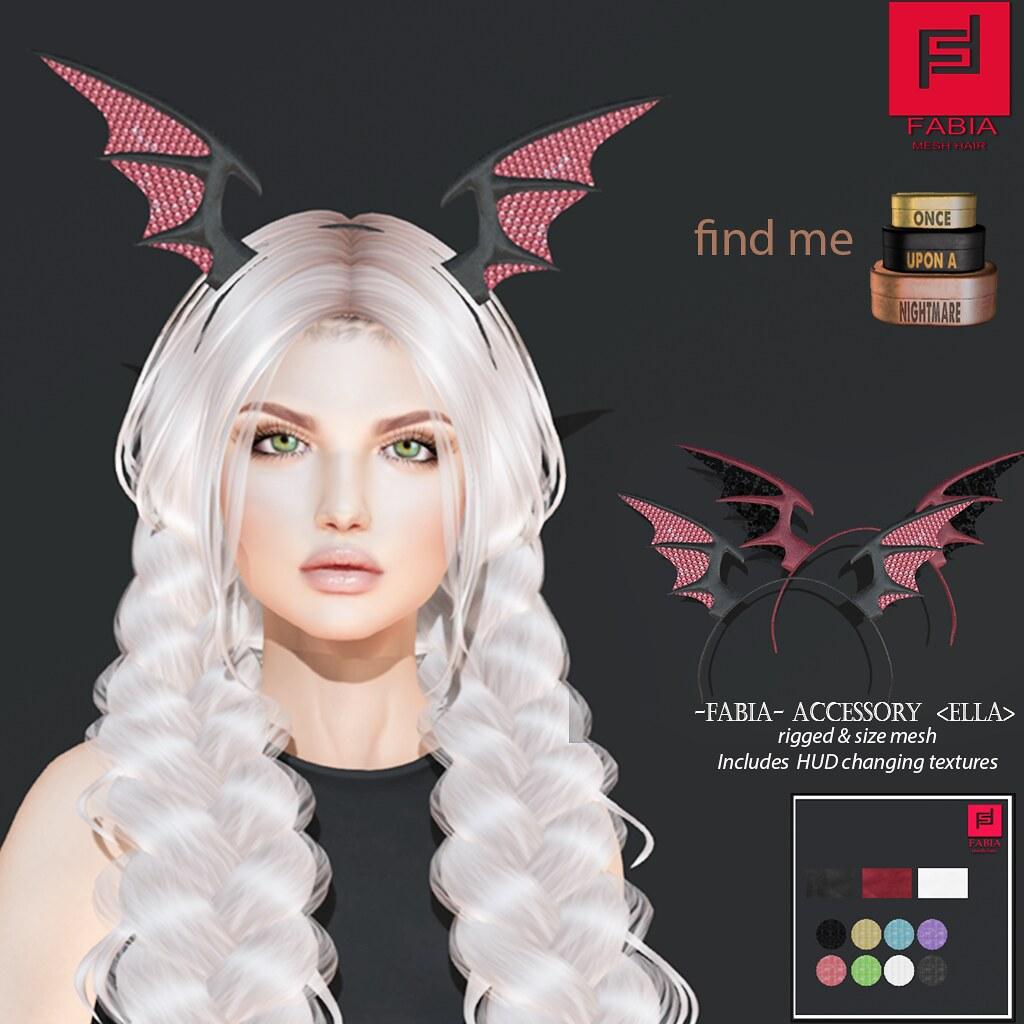 -FABIA- Mesh Hair   <Ella> & Accessory - TeleportHub.com Live!