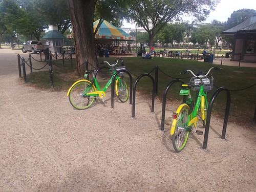 LimeBikes on National Mall