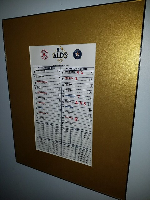 ALDS LINEUP CARD FRAMED