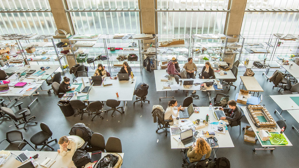 The architecture studio at the University of Bath