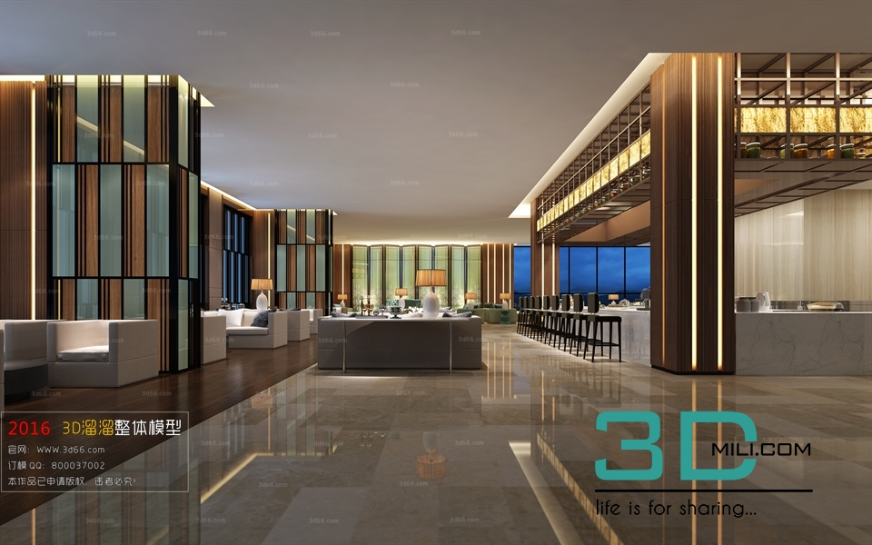 06  Restaurant - 3D Mili - Download 3D Model - Free 3D