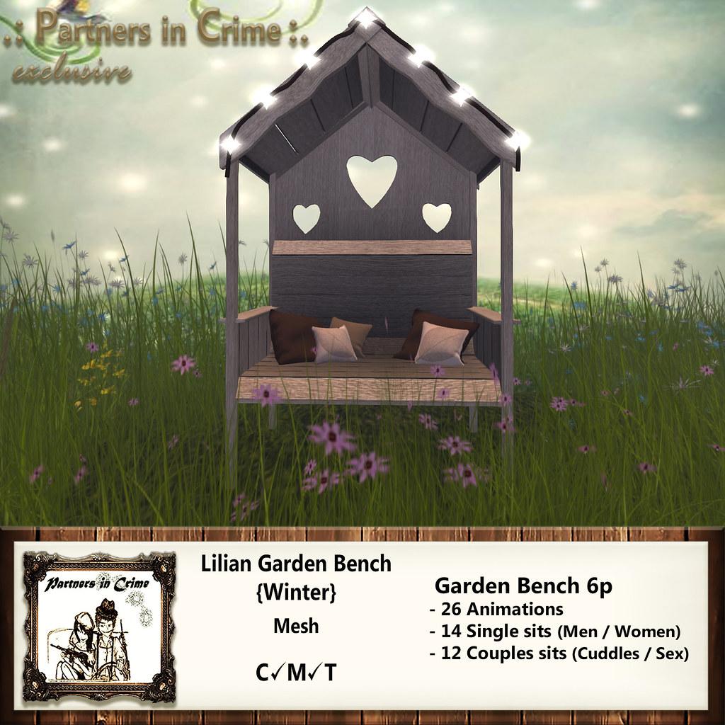 Lilian Garden Bench {Winter} - TeleportHub.com Live!