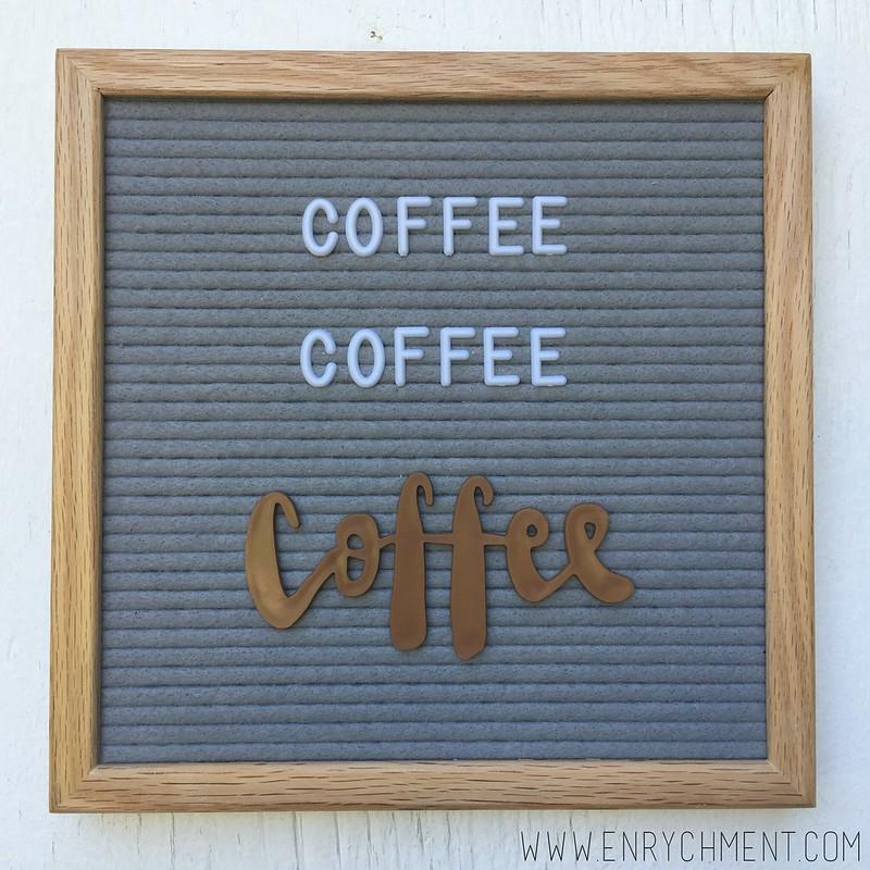 coffee letterboard