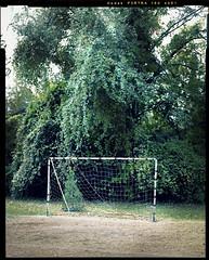 Soccer Goal, Onesimo Hernandez Elementary School, Dallas, Texas. November, 2016.