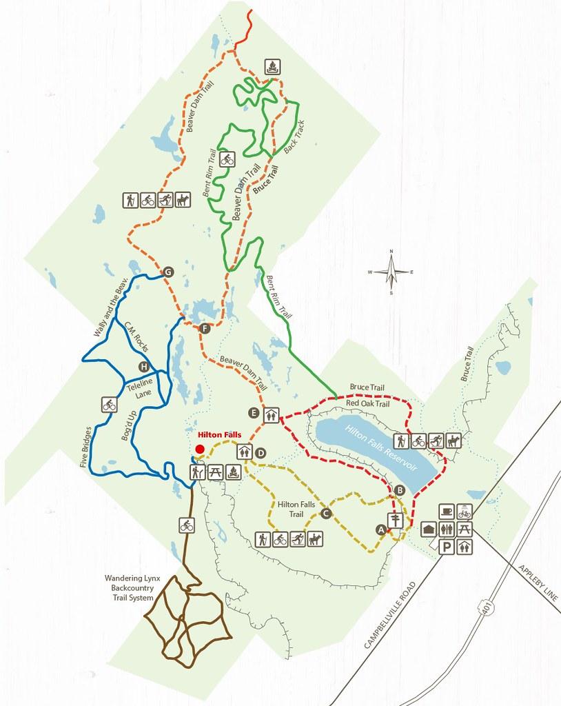 Hilton Falls Conservation Area Map