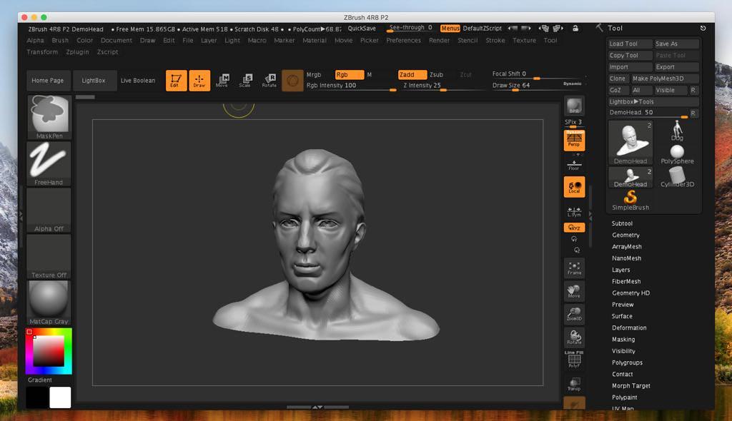 ZBrush 2019 1 2 – 3D paint, texture & sculptor | macOS