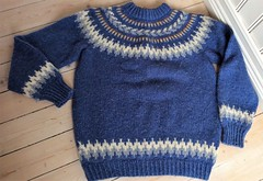 Retro wool icelandic sweater