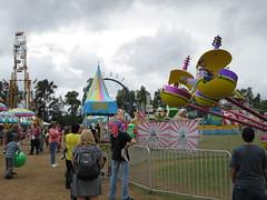 Carnival Rides At The Fair.