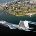 Lt. Col. James Hecker flies over Fort Monroe before delivering the first operational F/A-22 Raptor to its permanent home at Langley Air Force Base, Va., on May 12, 2005.  This is the first of 26 Raptors to be delivered to the 27th Fighter Squadron.  The Raptor program is managed by the F/A-22 System Program Office at Wright-Patterson AFB, Ohio.  Colonel Hecker is the squadron's commander.  (U.S. Air Force photo/Tech. Sgt. Ben Bloker)
