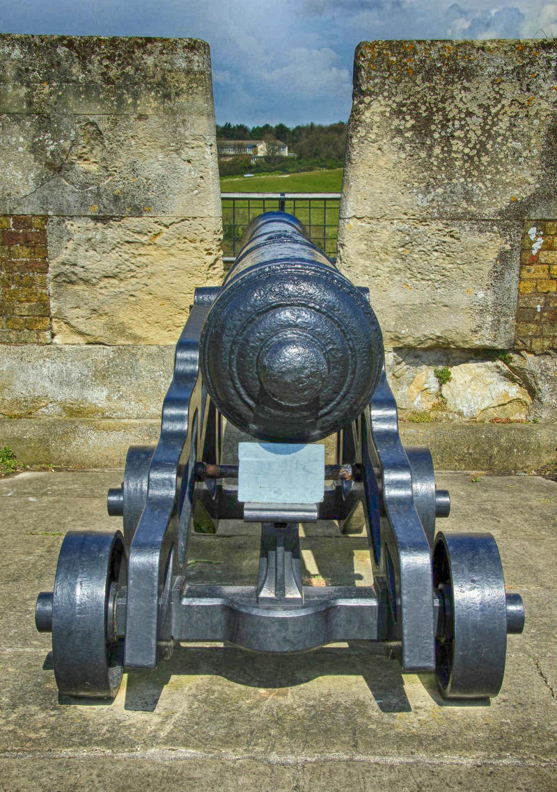 Cannon at Dover Castle. Credit Karen Roe