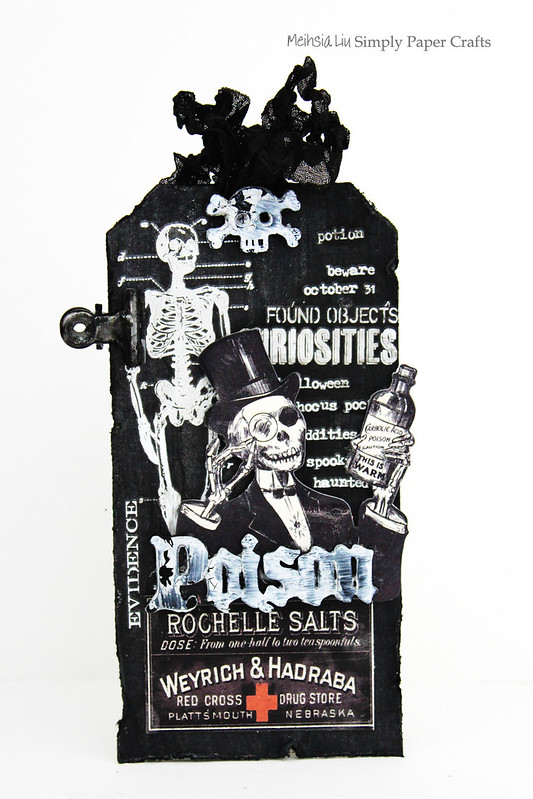 Meihsia Liu Simply Paper Crafts Mixed Media Tag Mono Halloween Simon Says Stamp Tim Holtz 1