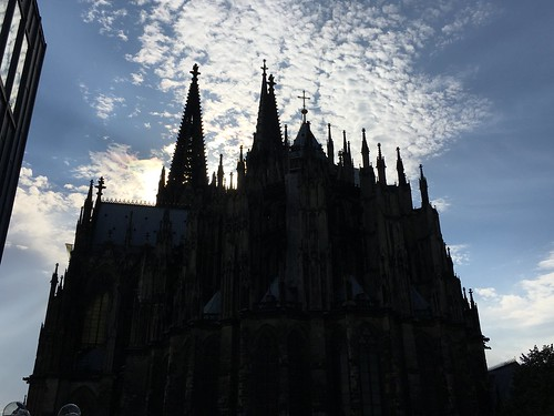 der Dom and clouds