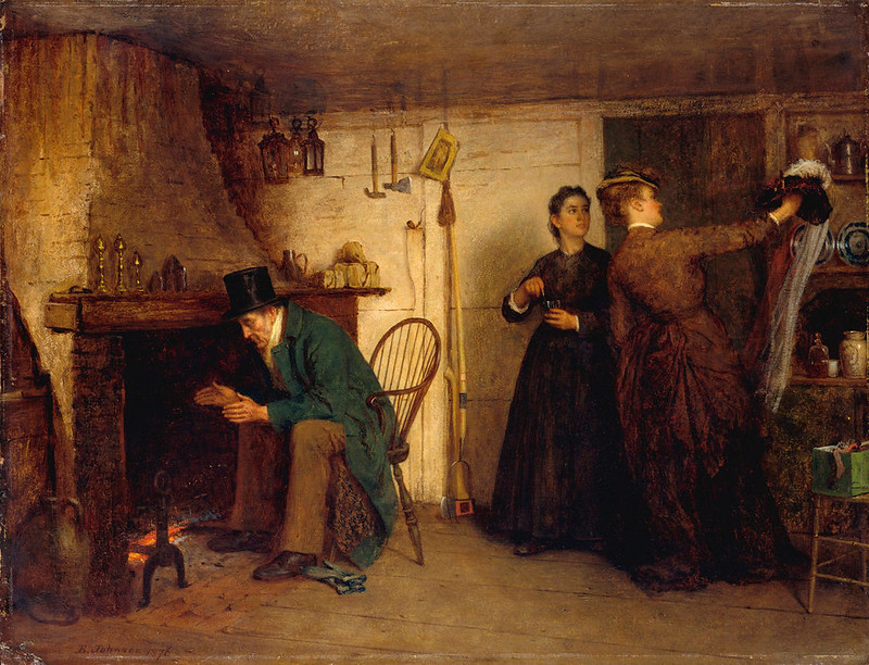 The New Bonnet by Eastman Johnson, 1876