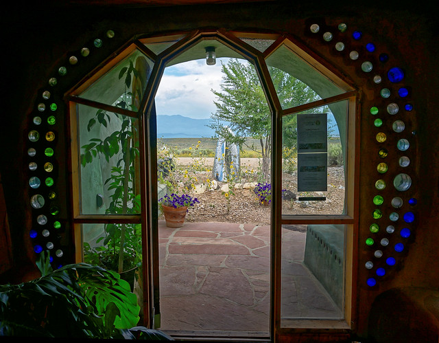 Earthship doorway