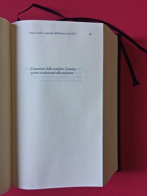 Sandro Penna, Poesie, prose e diari. Mondadori, i Meridiani; Milano 2017. Resp. gr. non indicata. Testi poetici, uno per pagina: a pag. 83 [part.].