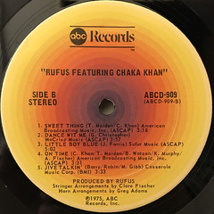 RUFUS FEATURING CHAKA KHAN:RUFUS FEATURING CHAKA KHAN(LABEL SIDE-B)