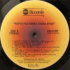 RUFUS FEATURING CHAKA KHAN:RUFUS FEATURING CHAKA KHAN(LABEL SIDE-B)