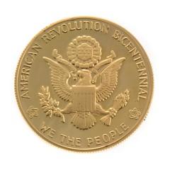 1976 Gold Bicentennial Medal reverse