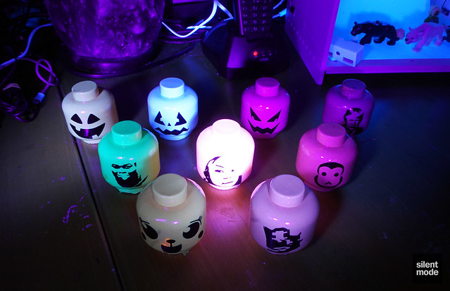 "SilentMODs: UV-Reactive ""Pumpkin"" Heads."