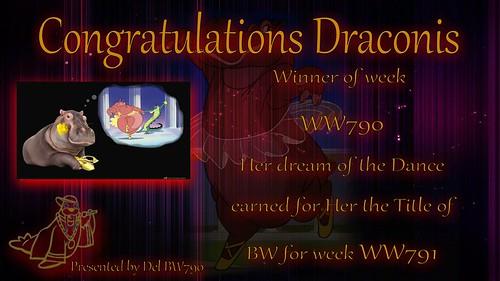 WW790 Winner Certificate