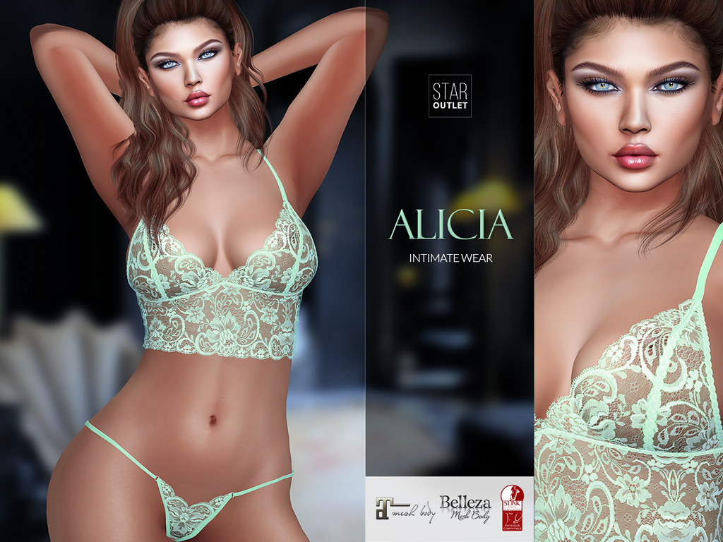Star Outlet Lingerie Alicia Mint Green (Maitreya, Slink, Belleza)