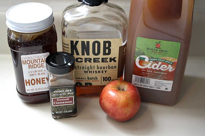 Warm Bourbon Honey Apple Cider