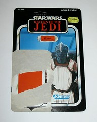 star wars return of the jedi klaatu in skiff guard outfit kenner 1983 cardback 77 back made in hong kong unpunched a