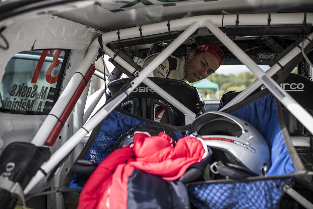 Sesks Mārtiņš and Mālnieks Andris, LMT Autosporta Akadēmija, Peugeot 208 R2 ERC Junior U27 ambiance portrait during the 2017 European Rally Championship ERC Liepaja rally,  from october 6 to 8, at Liepaja, Lettonie - Photo Gregory Lenormand / DPPI