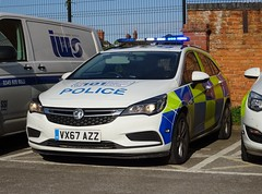 Warwickshire and West Mercia Police Vauxhall Astra VX67 AZZ, Coleshill Police Station.