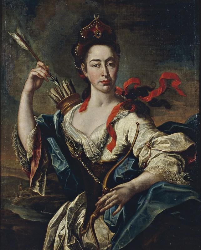 Pere Crusells - Retrat de dama amb atributs de Diana