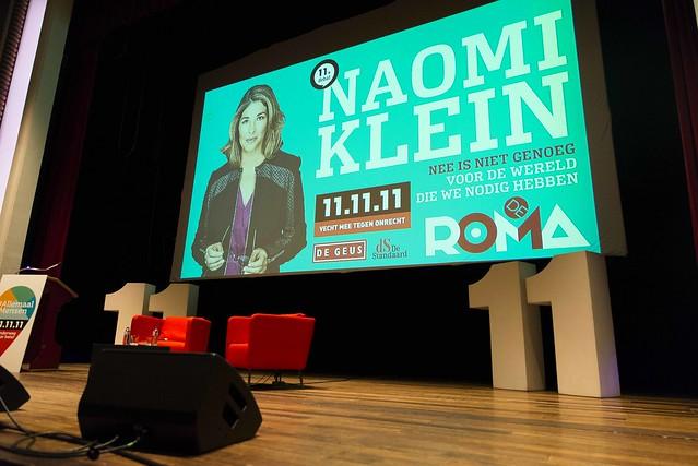 Naomi Klein in De Roma