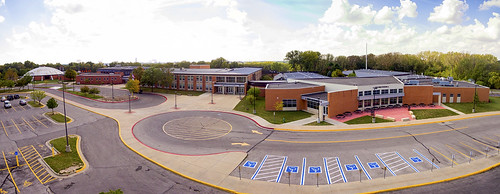 Ames High School Front door photos courtesy of Kevin Michael Snyder Photography AHS 1977 taken Sat Sep 23 2017 after AHS tour via drone by Kevin Michael Snyder AHS class of 1977