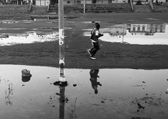 Running out of Breath 🏃 🏃 Blackandwhite Monochrome Reflection Water Outdoors Puddle In The Park Training Session Open Air Streetphotography Shades Of Grey Black Vs White Run Running Water Water Reflections Water Rainy Day After The Rain Look