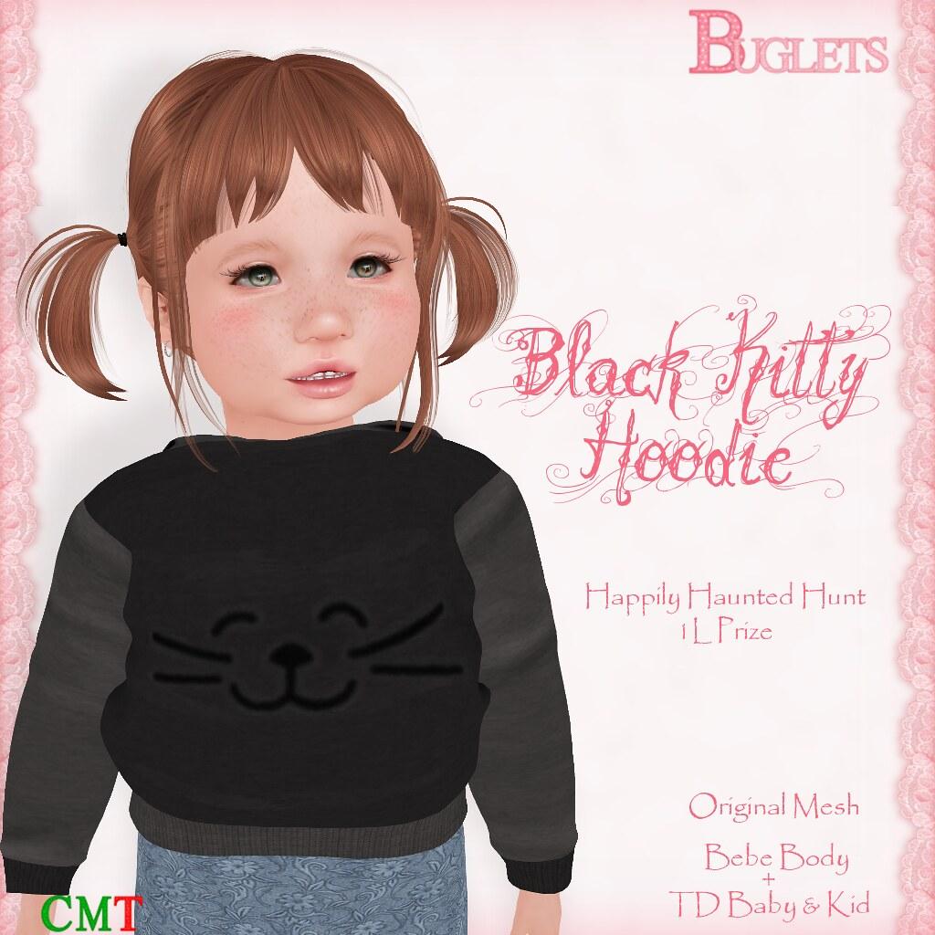 Black Kitty Hoodie AD