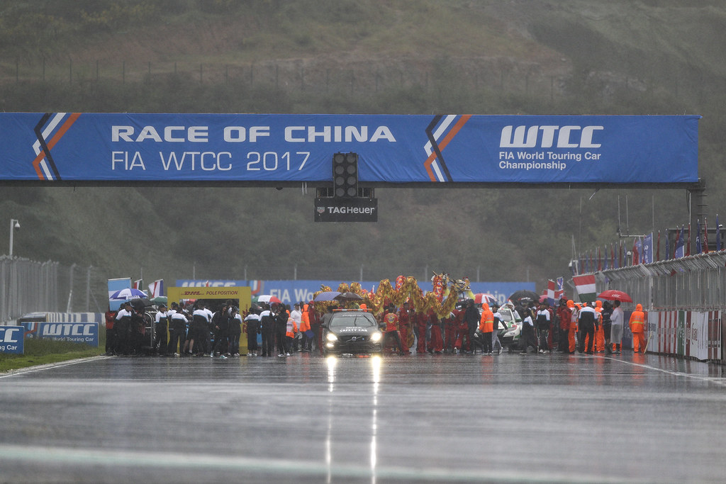 grille de depart starting grid  during the 2017 FIA WTCC World Touring Car Championship at Ningbo, China, October 13 to 15 - Photo Frederic Le Floc'h / DPPI