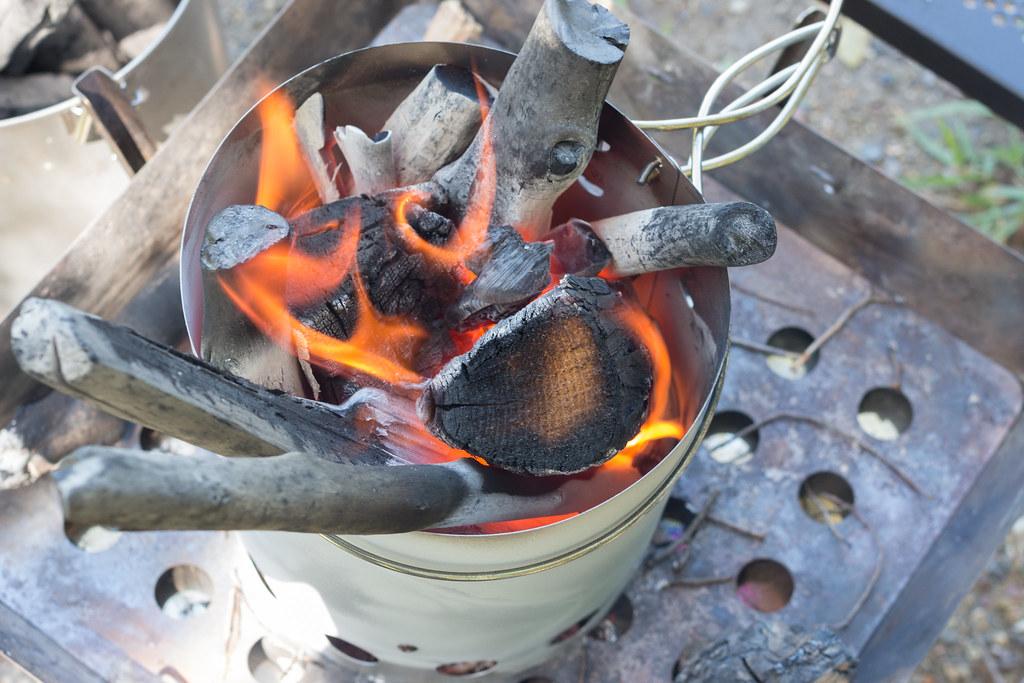 キャプテンスタッグ 火おこし器セット よく燃える