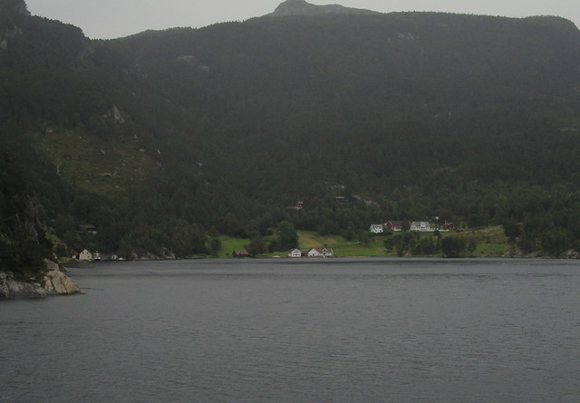 Houses by Lysefjord
