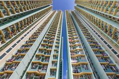 Hong Kong traditional apartments towers building blocks