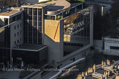 Andorra glass architecture: Escaldes-Engordany, E-E, Andorra city, the center, Andorra