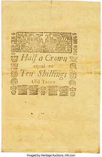 Rhode Island February 14, 1743 2 Shillings 6 Pence back