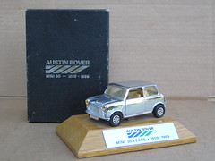 Vintage Austin Rover Mini Chome & Boxed 30th Anniversary Model