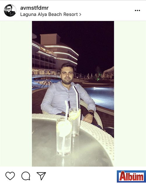 Avukat Mustafa Demir, Laguna Alya Beach Resort'te keyifli bir akşam geçirdi.