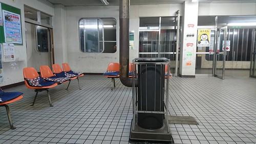 奈井江で駅テン。蛾はNG