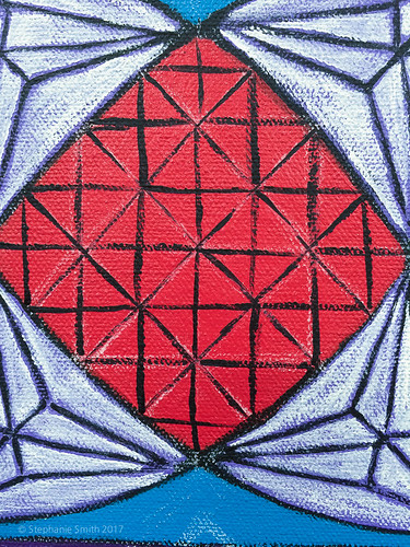 Mandala painting: Jewel in the Lotus