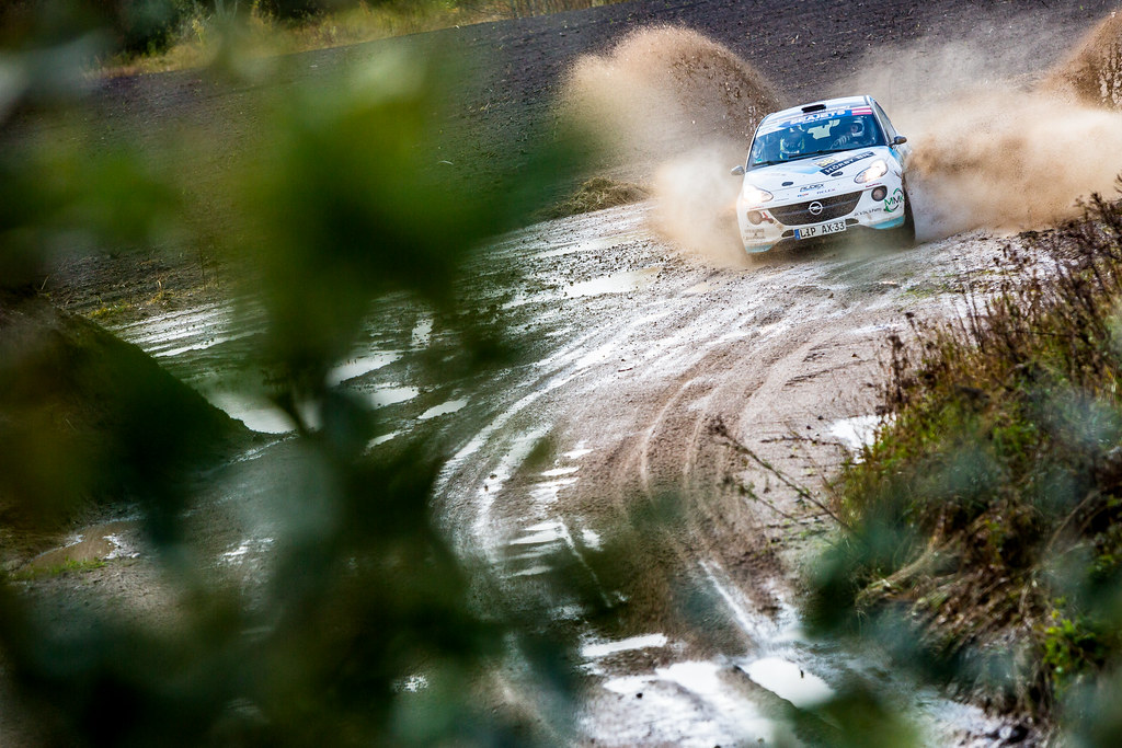 38 Kristensson Tom and Appelskog Henrik, Opel Adam R2 action during the 2017 European Rally Championship ERC Liepaja rally,  from october 6 to 8, at Liepaja, Lettonie - Photo Thomas Fenetre / DPPI