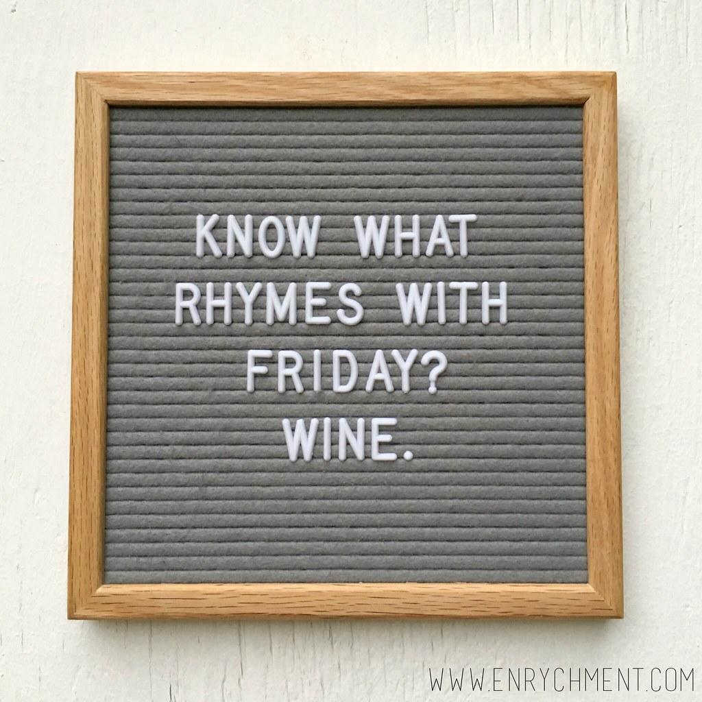 wine letterboard