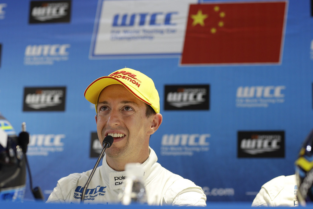 GIROLAMI Nestor (arg) Volvo S60 Polestar team Polestar Cyan Racing ambiance portrait pole position  conference de presse press conference   during the 2017 FIA WTCC World Touring Car Championship at Ningbo, China, October 13 to 15 - Photo Frederic Le Floc'h / DPPI